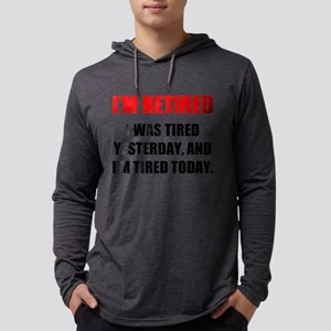 I'm Retired Mens Hooded Shirt